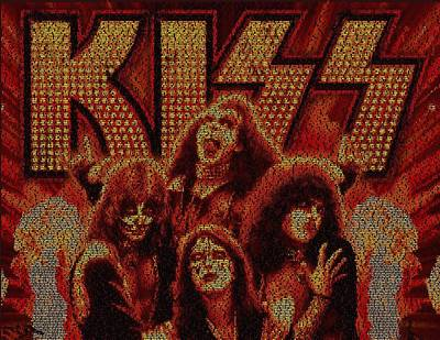 Kiss Concert Songs Mosaic Poster