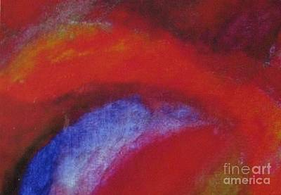 Kiss My Aura Abstract Poster by Shelly Wiseberg
