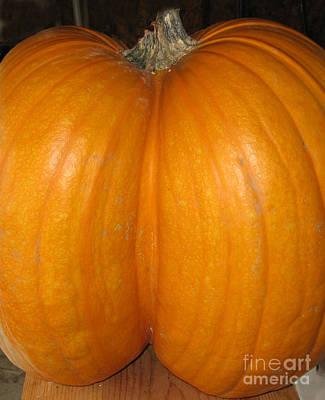 Butt Crack Pumpkin Poster
