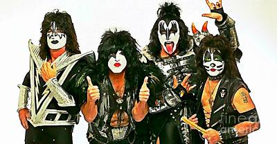 Kiss Watercolor Painting Poster