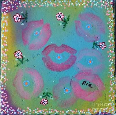 Kisses Poster by Maria Pancheri