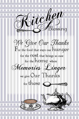 Poster featuring the digital art Kitchen Blessing by Robin-Lee Vieira