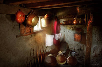 Poster featuring the photograph Kitchen - Homesteading Life by Mike Savad