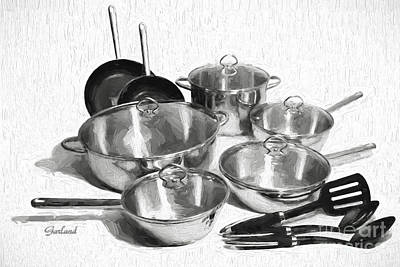 Kitchen Pots And Pans Poster by Garland Johnson