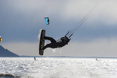 Kite Boarders On Turnagain Arm Poster
