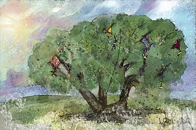 Kite Eating Tree Poster by Annette Berglund