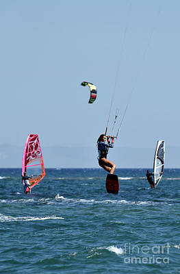 Kite Surfing And Windsurfing Poster