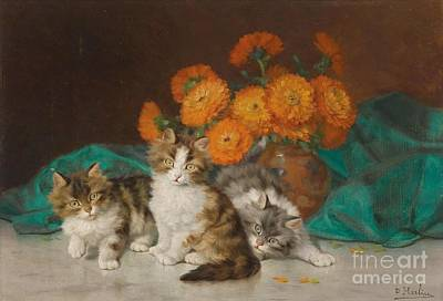 Kittens Poster by Celestial Images