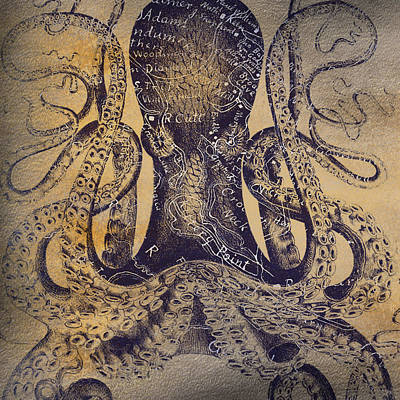 Kittery Point Octopus Poster by Brandi Fitzgerald