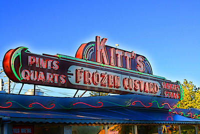 Kitts Frozen Custard Stand Poster