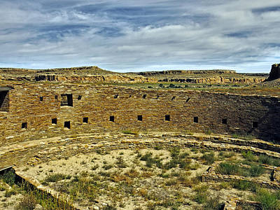 Poster featuring the photograph Kiva View Chaco Canyon by Kurt Van Wagner