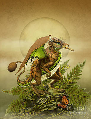 Poster featuring the digital art Kiwi Dragon by Stanley Morrison