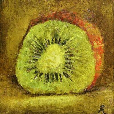 Kiwifruit Poster by Dragica  Micki Fortuna
