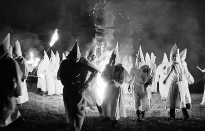 Kkk Cross Burning 1 Poster by Tom Callan