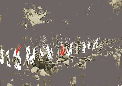 Kkk March Unknown Location Circa 1925 Color Added 2016 Poster by David Lee Guss