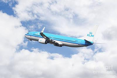 Klm Boeing 737-8k2 Poster