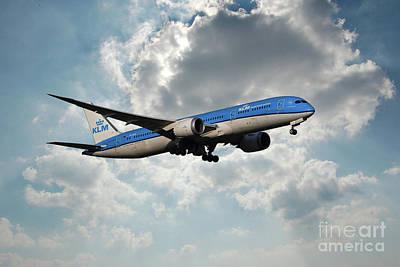 Klm Boeing 787-9 Dreamliner Poster
