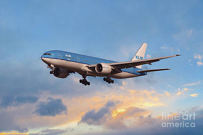 Klm Royal Dutch Airlines Boeing 777-206 Poster