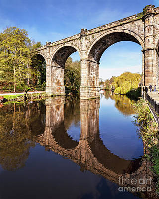 Poster featuring the photograph Knaresborough Viaduct, North Yorkshire by Colin and Linda McKie