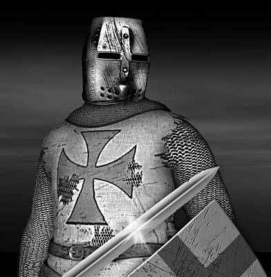 Knight Templar Poster by David Griffith