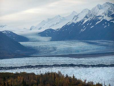 Poster featuring the photograph Knik Glacier by Adam Owen