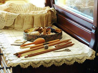 Knitting Supplies Poster by Susan Savad