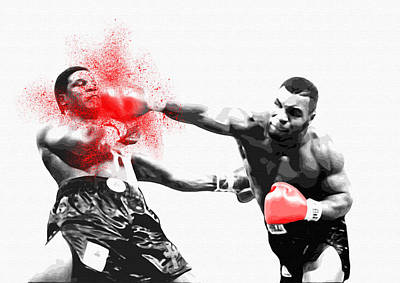 Knockout King Mike Tyson - By Diana Van Poster by Diana Van