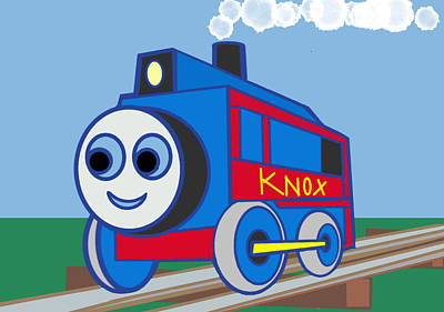 Knox The Engine Poster by Denny Casto