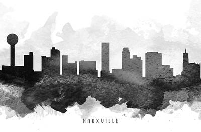Knoxville Cityscape 11 Poster by Aged Pixel