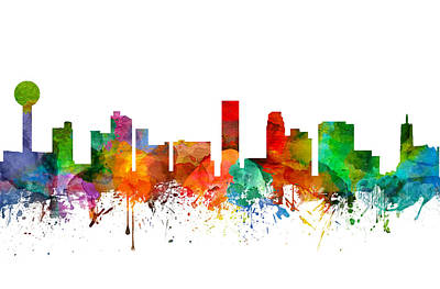 Knoxville Tennessee Skyline 21 Poster by Aged Pixel