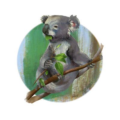 Koala Eating Poster