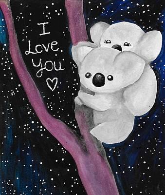 Koala Love Poster by Zoe Sanchez