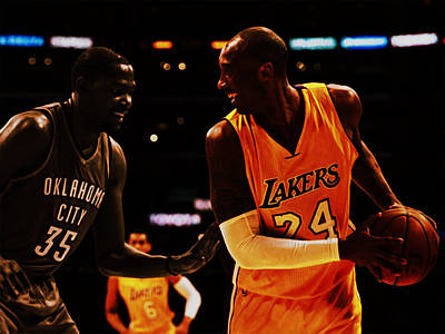 Kobe And Durant Poster by Brian Reaves