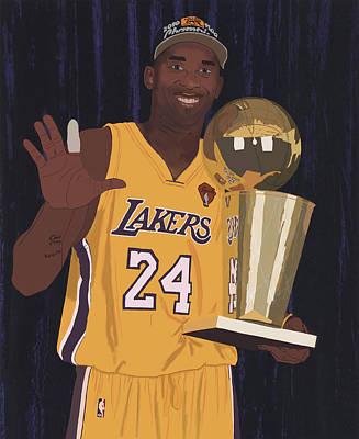 Kobe Bryant Five Championships Poster