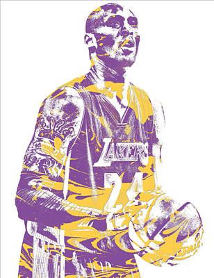 Kobe Bryant Los Angeles Lakers Pixel Art 22 Poster