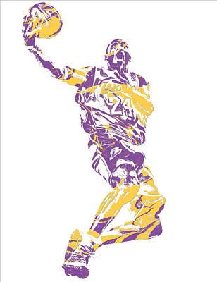 Kobe Bryant Los Angeles Lakers Pixel Art 24 Poster