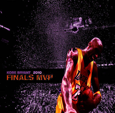 Kobe Bryant Nba Finals Poster by Brian Reaves