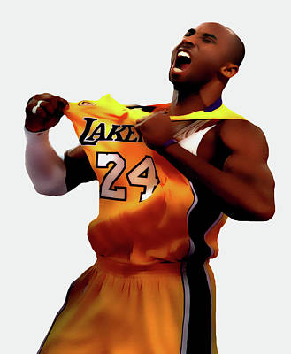 Kobe Sweet Victory 2 Poster by Brian Reaves