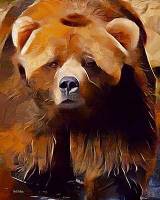 Kodiak Bear Painting  Poster by Scott Wallace