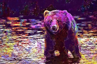 Kodiak Brown Bear Adult Portrait  Poster