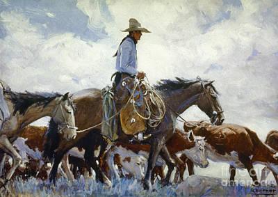 Koerner: Cowboy, 1920 Poster by Granger