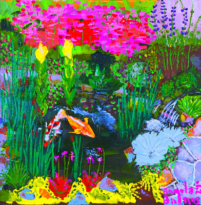 Poster featuring the painting Koi Pond I by Angela Annas