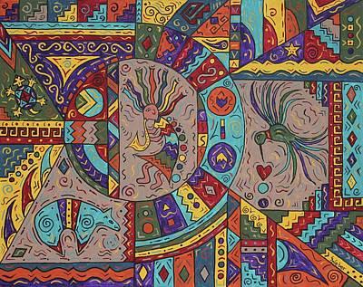 Kokopelli Mandala Poster