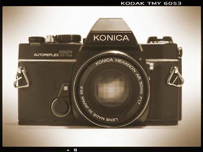 Konica Tc 35mm Camera Poster