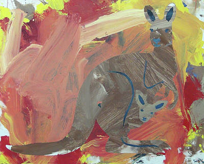 Poster featuring the painting Kooky Kangaroo by Candace Shrope