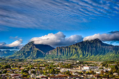 Poster featuring the photograph Koolau And Pali Lookout From Kanohe by Dan McManus