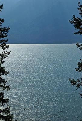 Kootenay Lake, British Columbia. Poster by Rob Huntley