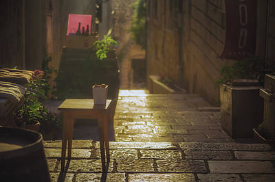 Korcula Alley No 2 Poster by Chris Fletcher
