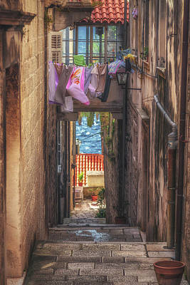 Korcula Alley No 4 Poster by Chris Fletcher
