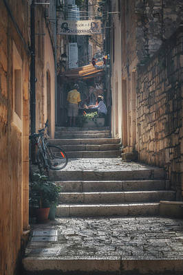 Korcula Alley No 5 Poster by Chris Fletcher